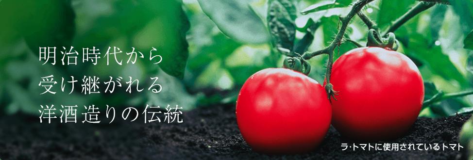 明治時代から受け継がれる洋酒造りの伝統 ラ・トマトに使用されているトマト
