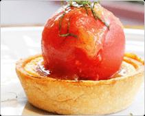 フロマージュブランと柑橘のタルト ソルベ添え
